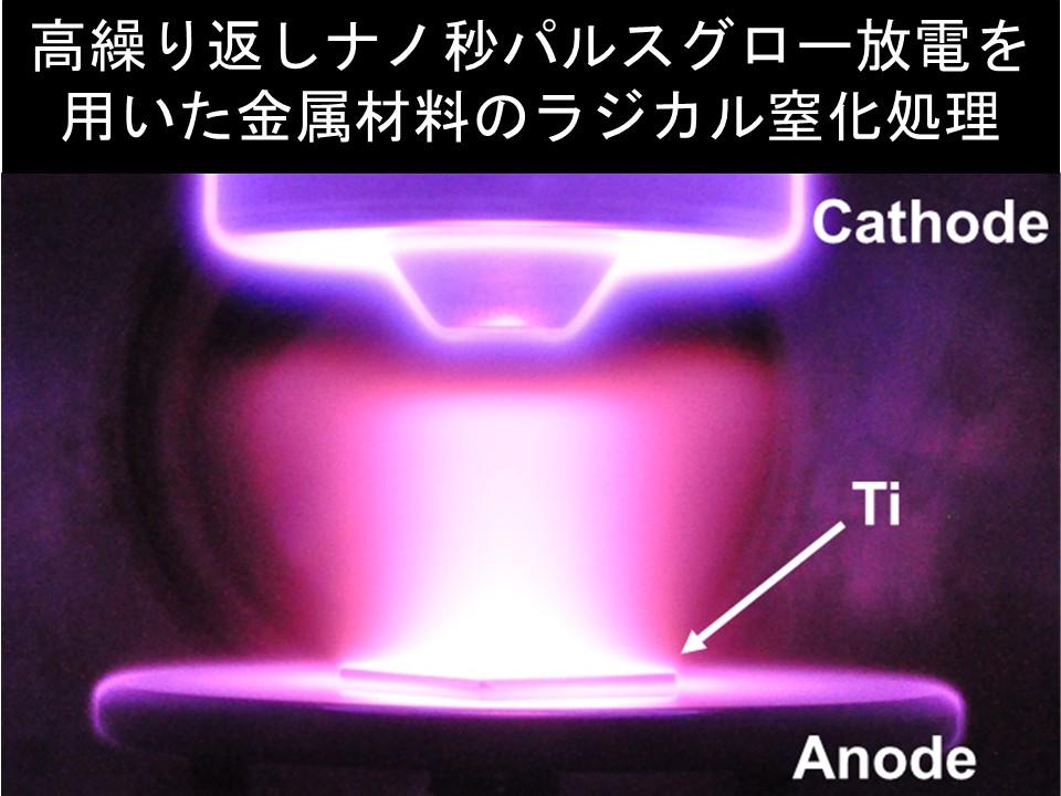 8. 高繰り返しナノ秒パルスグロー放電を用いた金属材料のラジカル窒化処理