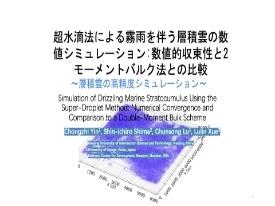 68 超水滴法による霧雨を伴う層積雲の数値シミュレーション: 数値的収束性と2モーメントバルク法との比較 ~層積雲の高精度シミュレーション~